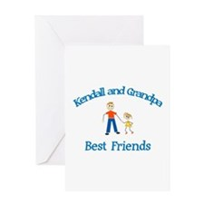 Kendall & Grandpa - Best Frie Greeting Card