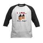 I Love Nice Jugs Kids Baseball Jersey