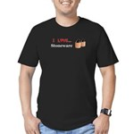 I Love Stoneware Men's Fitted T-Shirt (dark)