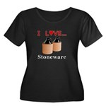 I Love S Women's Plus Size Scoop Neck Dark T-Shirt