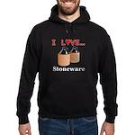 I Love Stoneware Hoodie (dark)
