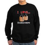 I Love Stoneware Sweatshirt (dark)