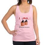 I Love Stoneware Racerback Tank Top