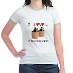 I Love Stoneware Jr. Ringer T-Shirt