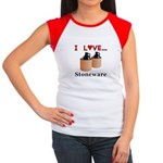 I Love Stoneware Junior's Cap Sleeve T-Shirt