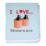 I Love Stoneware baby blanket