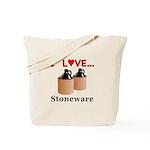 I Love Stoneware Tote Bag