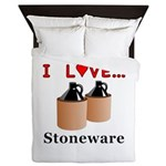 I Love Stoneware Queen Duvet