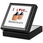 I Love Stoneware Keepsake Box
