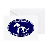 Great lakes Greeting Cards (20 Pack)