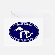 GREAT LAKES SHARK FREE Greeting Cards