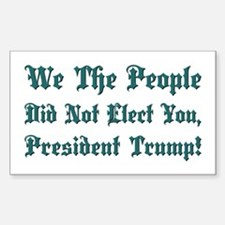 WE THE PEOPLE... Sticker (Rectangle)