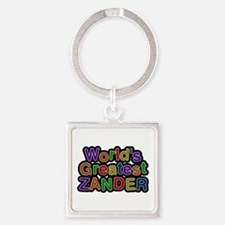 World's Greatest Zander Square Keychain