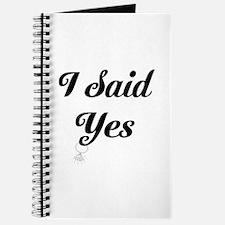 I Said Yes Design Journal