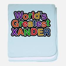 Worlds Greatest Xander baby blanket