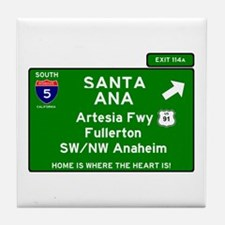 I5 INTERSTATE - CALIFORNIA - SANTA AN Tile Coaster