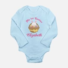 1st Easter Personalized Bunny Body Suit