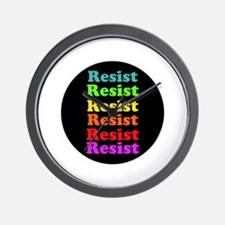 Resist Trump, gay pride Wall Clock