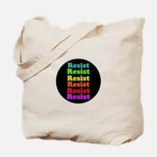 Resist Trump, gay pride Tote Bag