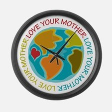Love Your Mother Large Wall Clock