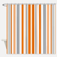 Emejing Grey And Orange Shower Curtain Ideas - 3D house designs ...