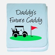 Daddy's Future Caddy baby blanket