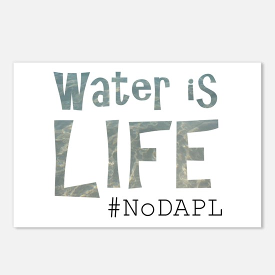 Water is Life - #NoKXL, # Postcards (Package of 8)