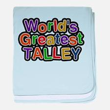 Worlds Greatest Talley baby blanket
