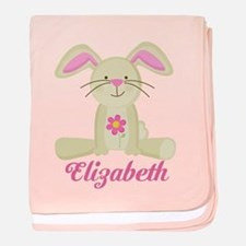 Personalized Easter Bunny Rabbit baby blanket