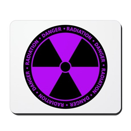 Purple Radiation Symbol Mousepad by sciencedoodles