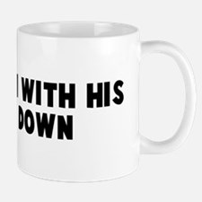 Caught em with his pants down Mug