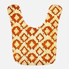 Asian Ornamental Pattern Polyester Baby Bib