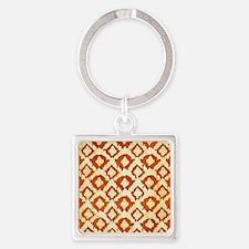 Asian Ornamental Pattern Square Keychain