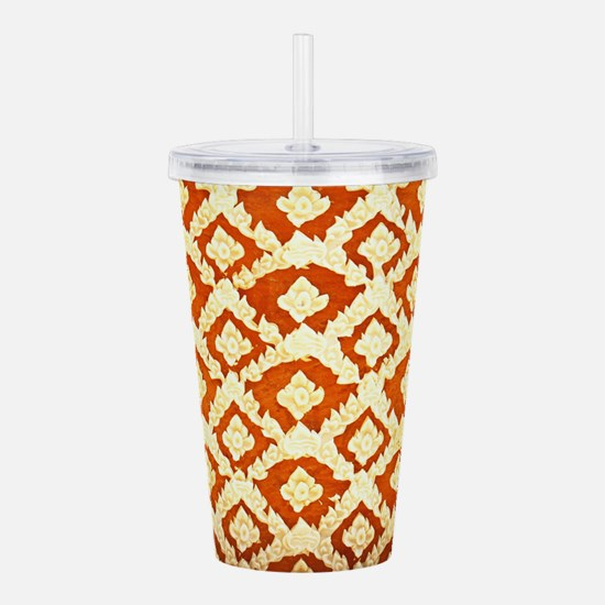 Asian Ornamental Patte Acrylic Double-wall Tumbler