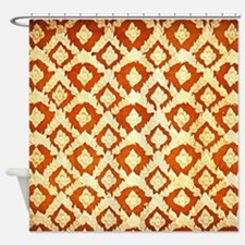 Asian Ornamental Pattern Shower Curtain