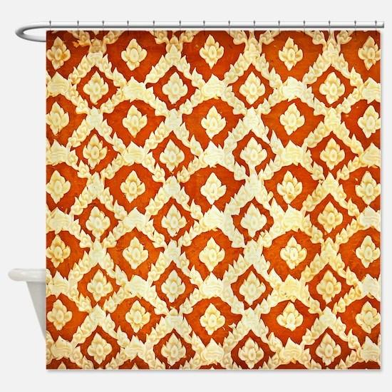 Asian Ornamental Pattern Shower Curtain
