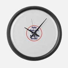 hate does not make America great Large Wall Clock