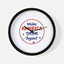 Make America Think Again Wall Clock