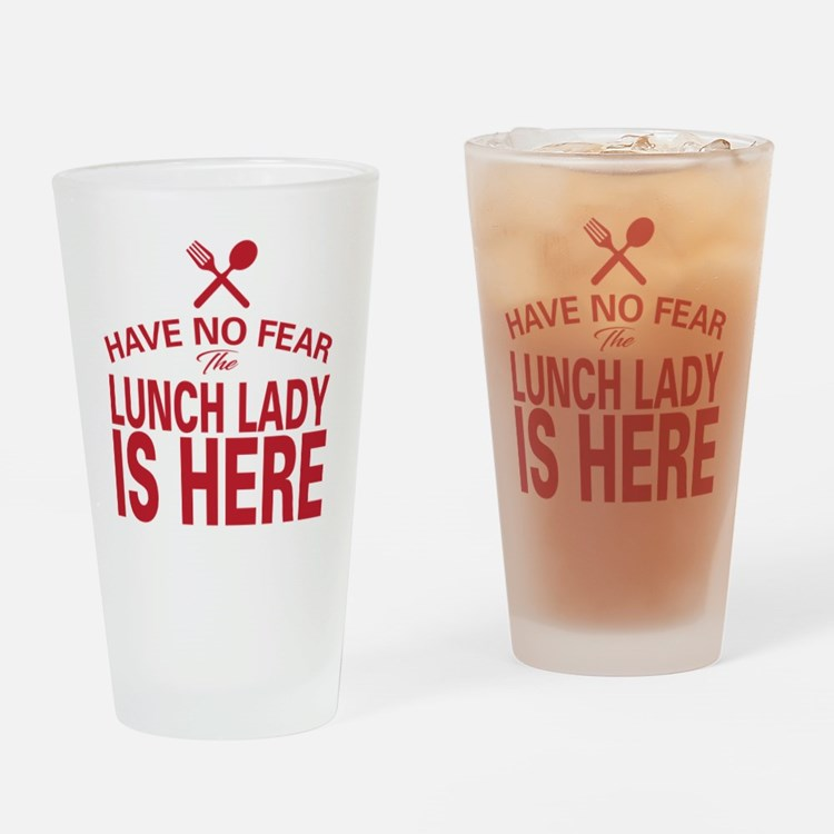 Cute Lunch lady Drinking Glass