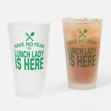 Cool Lunch lady Drinking Glass