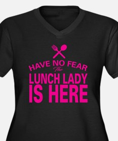 Cute Lunch lady Women's Plus Size V-Neck Dark T-Shirt