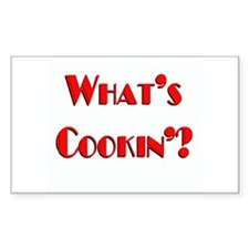 """What's Cookin'?"" Rectangle Decal"