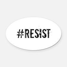 #RESIST Oval Car Magnet