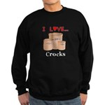 I Love Crocks Sweatshirt (dark)