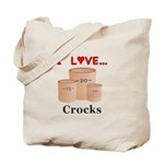 I Love Crocks Tote Bag