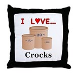 I Love Crocks Throw Pillow