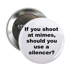 "Funny Mime 2.25"" Button"