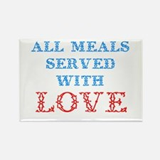 """""""All Meals Served With Love"""" Rectangle M"""