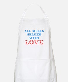 """""""All Meals Served With Love"""" BBQ Apron"""