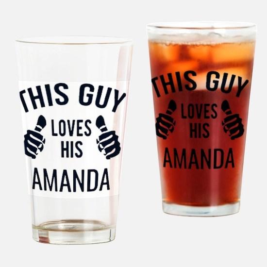 Cute Amanda Drinking Glass